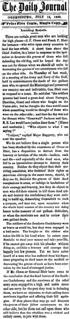 talk about lee not welcome in 1869 reunion the southwestern july 28.jpg