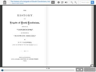 The History of a Brigade of South Carolinians by J. F. J. Caldwell