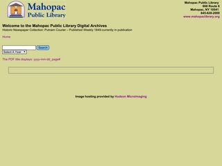 Mahopac (NY) Public Library Digital Archives (Putnam County, New York)