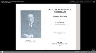 Edward Porter Alexander - Military Memoirs of a Confederate; a critical narrative