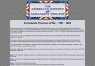 Prisoner of War Records for Confederate POWs and political prisoners