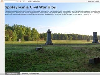 Spotsylvania Civil War Blog
