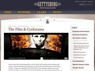 """The Gettysburg Cyclorama & """"A New Birth of Freedom"""" Film"""