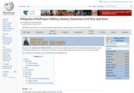 Wikipedia - American Civil War task force
