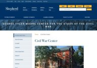 George Tyler Moore Center of the Study of the Civil War - Shepherd University