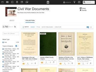 Internet Archive: Civil War Document Collection