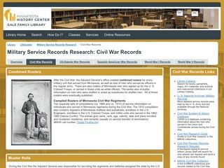 Minnesota Military Service Records Research: Civil War Records