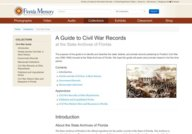 Florida State Archives Civil War Records