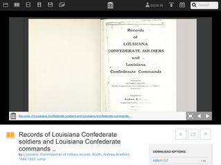 Records of Louisiana Confederate soldiers and Louisiana Confederate commands: Volume 2, Part 1