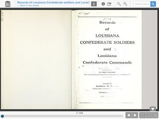 Records of Louisiana Confederate soldiers and Louisiana Confederate commands: Volume 3, Book 1, Part