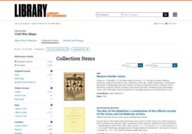 Library of Congress - Civil War Maps Collection