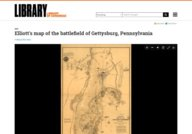 Elliott's map of the battlefield of Gettysburg, Pennsylvania 1864