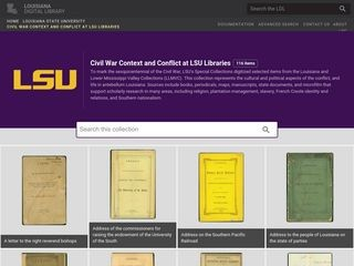 Civil War Context and Conflict at LSU Libraries / Louisiana Digital Library