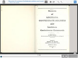Records of Louisiana Confederate Soldiers and Louisiana Confederate Commands Volume 3, Book 2, Part
