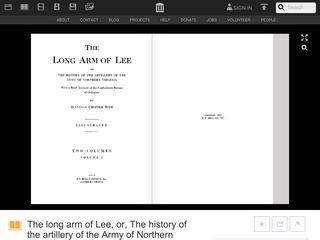 The Long Arm of Lee, or, The History of the Artillery of the Army of Northern Virginia / VOLUME 1