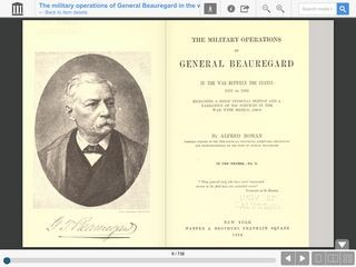 The military operations of General Beauregard in the war between the states, 1861 to 1865; VOLUME 2