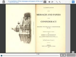 A Compilation of the Messages and Papers of the Confederacy : Including the Diplomatic Correspondenc