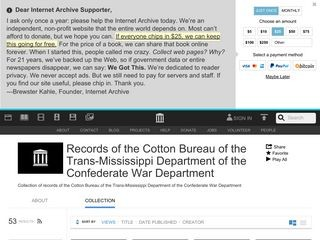 Records of the Cotton Bureau of the Trans-Mississippi Department of the Confederate War Department