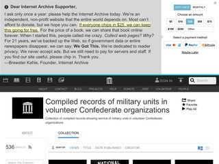 Compiled records of military units in volunteer Confederate organizations